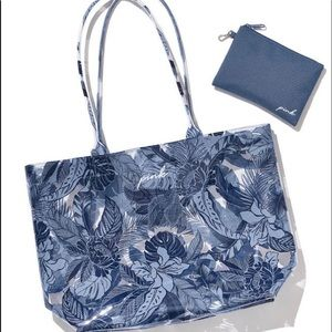 VS PINK summer blue tropical tote